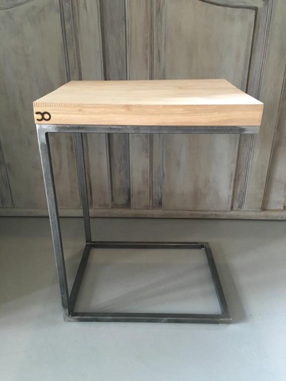 Bank bijzettafeltje van hout tafels - Bank terras hout ...
