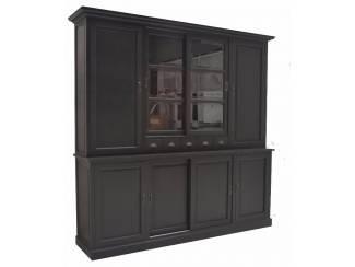 Kast met laden, glas en dichte deuren 240cm