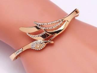 Vergulde Oostenrijkse kristal Polsboei Armband Sieraad