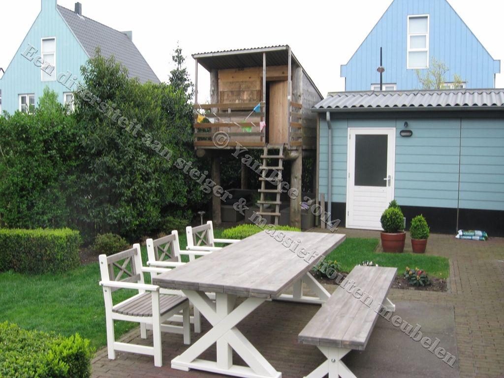 Prachtige tuinset van steiger en massief hout justin xl tuinmeubelen - Massief idee van tuin ...