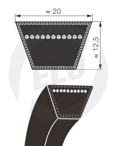 11 stuks Contitech 20x1215 Li V-snaar