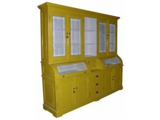 Buffetkast geel - wit 200 x 210cm bolle kleppen
