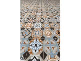 Portugese Tegels Patchwork : Vives tassel cm portugese tegels grijs of beige tegels