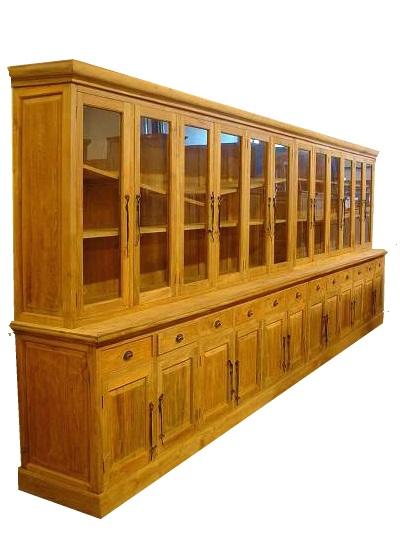 6 meter brede teak houten buffetkast kasten en dressoirs - Kamer buffet heeft houten eet ...