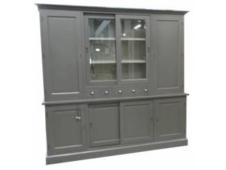 Apothekerskast laden glas en dichte deuren 240cm
