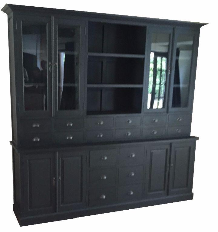 Buffetkast 18 laden zwart - zwart 250 x 220cm