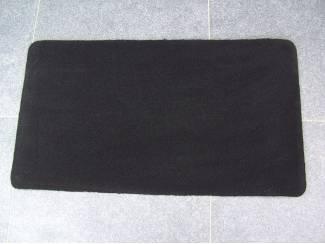 MAT VLOERMAT ZWART 90X50 cm 2 stuks Nieuw