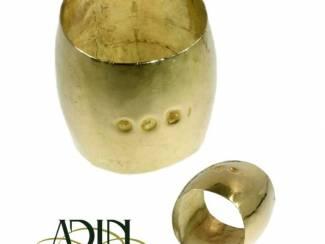 Antieke gouden verlovingsring uit de 19 de eeuw.