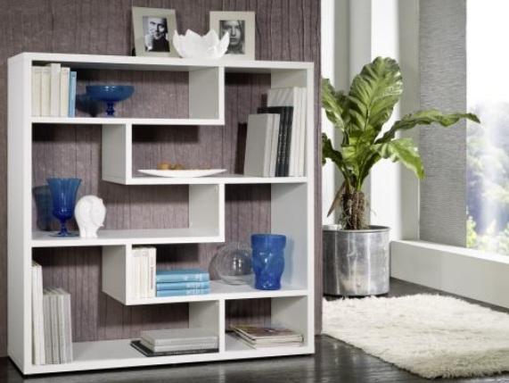 ACTIE Moderne mat witte wandkast / boekenkast NU 199,- NIEUW ...