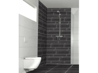 Flaminia Beton Black 5/10/15x60 cm stroken mix Eur 39,95 m2