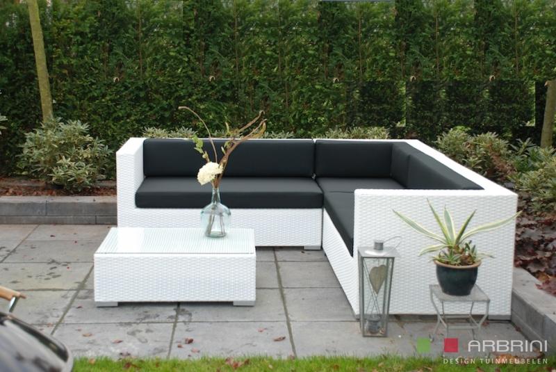 Loungeset lounche set tuin terras wit wicker aanbieding