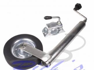 Neuswiel, steunwiel met klem metalen velg, 48mm buisdiameter