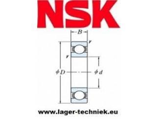 NSK 6000-DDU Groef Kogellager (2 zijdig rubber afgedicht)