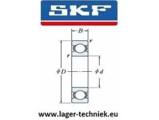 2 stuks SKF W6301-2RS1 RVS Groef Kogellager