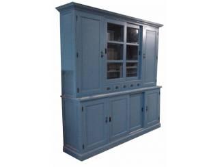 Buffetkast Gieten oud blauw 240 x 50/40 x 230cm