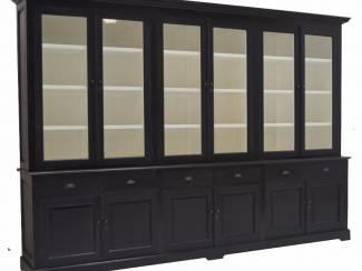 Winkelkast XL zwart - wit 340 x 50/40 x 240cm