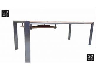 Maatwerk RVS design bureau- werk- eettafel, tafelblad naar keuze!