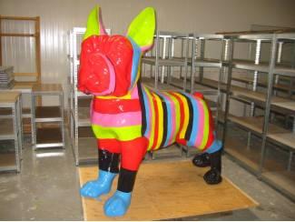 Franse Buldog regenboog beeld / Regenboog beelden / Kunst koeien/