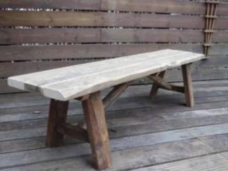 Retro houten bankje - Ook maatwerk!!
