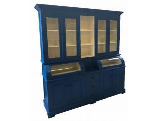 Buffetkast blauw 230 x 210cm bolle kleppen
