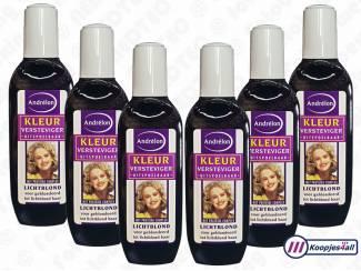 6x fles Andrelon Kleurspoeling/versteviger - glanzend lichtblond