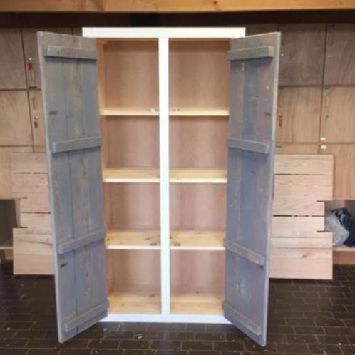 Wandkast 39 tynaarlo 39 robuuste kast steigerhout deuren kasten en dressoirs - Planken maken in een kast ...