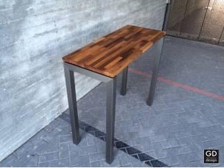 De mooiste RVS bar tafels diverse houtsoorten en afmetingen!