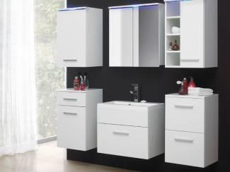 Badkamer VOORRAAD Compleet badkamermeubel Mega kleur Wengé NU 329 NIEUW