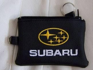 Lederen sleutelhoesje, met SUBARU logo