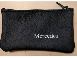 Lederen sleutelhoesje, met MERCEDES logo