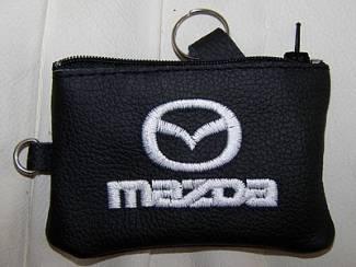 Lederen sleutelhoesje, met MAZDA logo
