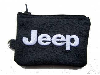 Lederen sleutelhoesje, met JEEP logo
