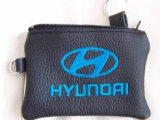 Lederen sleutelhoesje, met HYUNDAI logo