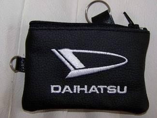 Lederen sleutelhoesje, met DAIHATSU logo