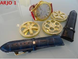 Horloges | Dames Horloge spinner 3 banden Nr 52-GEEN VERZENDKOSTEN.