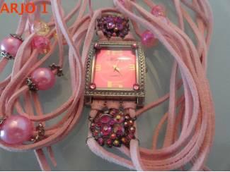 dames horloge met swarovski, nr 30-GEEN VERZENDKOSTEN.