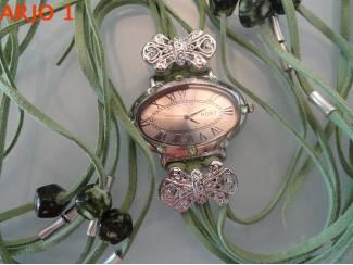 dames horloge met swarovski, nr 31-GEEN VERZENDKOSTEN.