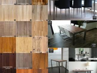 Maatwerk roestvrij stalen design meubelen met luxe houtsoorten