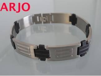 fraaie Stainless-steel armband, Nr 33-GEEN VERZENDKOSTEN.