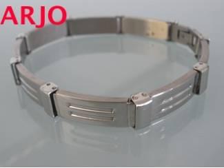 Stainless-steel armband m Nr 28-GEEN VERZENDKOSTEN.