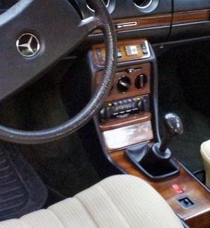 Mercedes W123 - Echt leder pookhoes : Mercedes-Benz onderdelen