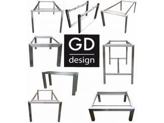 Maatwerk roestvrij stalen design frames/onderstellen/poten