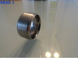 stainless-steel ring maat 17, Nr 24 -GEEN VERZENDKOSTEN.