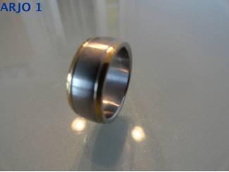 stainless-steel ring maat 10, Nr 39 - GEEN VERZENDKOSTEN.