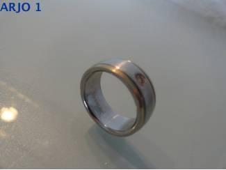 stainless-steel ring maat 17, Nr 37-GEEN VERZENDKOSTEN.