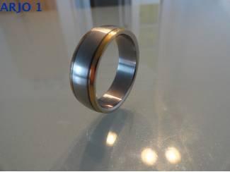 stainless-steel ring maat 22, Nr 35 - GEEN VERZENDKOSTEN.