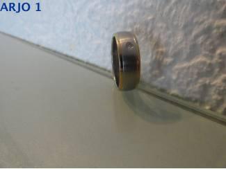 stainless-steel ring maat 22, Nr 35A -GEEN VERZENDKOSTEN.