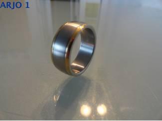 stainless-steel ring maat 18, Nr 34 -GEEN VERZENDKOSTEN.