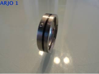 stainless-steel ring maat 21, Nr 20 - GEEN VERZENDKOSTEN.