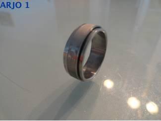 Rvs stainless steel rotatie ring, nr 59 -GEEN VERZENDKOSTEN.